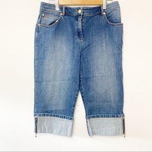 ST. JOHN | Denim Capri Pants Size 12